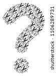 question mark figure composed... | Shutterstock .eps vector #1106289731