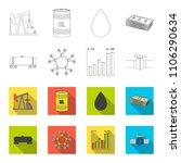 railway tank  chemical formula  ... | Shutterstock .eps vector #1106290634