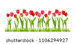tulips flowers isolated | Shutterstock .eps vector #1106294927