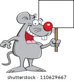 cartoon illustration of a mouse ... | Shutterstock .eps vector #110629667