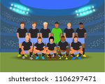 football players team before... | Shutterstock .eps vector #1106297471