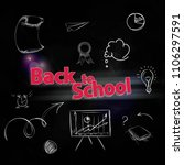 back to school composition with ... | Shutterstock .eps vector #1106297591