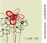 Art Sketching Floral Vector...