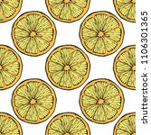 seamless pattern with hand... | Shutterstock . vector #1106301365
