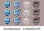 vector shield shaped two factor ...   Shutterstock .eps vector #1106303195