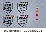 vector shield shaped two factor ...   Shutterstock .eps vector #1106303201