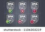 vector two factor...   Shutterstock .eps vector #1106303219