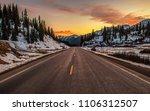 colorado mountain highway 550.... | Shutterstock . vector #1106312507