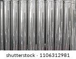 silver metal tubes closeup ... | Shutterstock . vector #1106312981