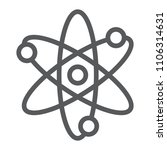 atom line icon  school and... | Shutterstock .eps vector #1106314631