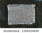 destroyed torn denim blue  ... | Shutterstock . vector #1106314634
