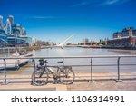 puerto madero   buenos aires  ... | Shutterstock . vector #1106314991
