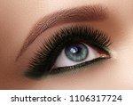 beautiful macro shot of female...   Shutterstock . vector #1106317724