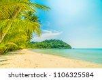 beautiful tropical beach and... | Shutterstock . vector #1106325584