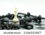 chessboard with a chess piece... | Shutterstock . vector #1106331857