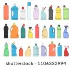 plastic bottles of cleaning... | Shutterstock .eps vector #1106332994