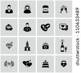 Wedding Icons Set.