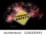 fireworks safety reminder... | Shutterstock . vector #1106335691