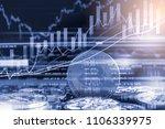 modern way of exchange. bitcoin ... | Shutterstock . vector #1106339975