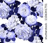 seamless pattern with roses.... | Shutterstock .eps vector #1106341751