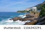 view of the vidigal favela  rio ...   Shutterstock . vector #1106342291