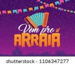 brazilian traditional... | Shutterstock .eps vector #1106347277