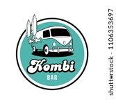 Kombi Surf Beach Bar Vector...