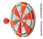 hit darts target icon. cartoon... | Shutterstock .eps vector #1106358554