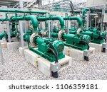 pump in power plant. | Shutterstock . vector #1106359181