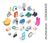 online purchases icons set.... | Shutterstock .eps vector #1106366435