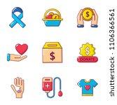 sacrifice icons set. cartoon... | Shutterstock .eps vector #1106366561