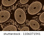 batik textile fashion  fabric... | Shutterstock .eps vector #1106371541