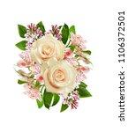 White Roses  Alstroemeria And...