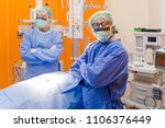 surgeon performing operation in ... | Shutterstock . vector #1106376449