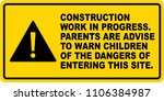 site safety signage ...   Shutterstock .eps vector #1106384987