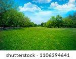 beautiful grass field in the... | Shutterstock . vector #1106394641