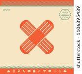 cross adhesive bandage  medical ... | Shutterstock .eps vector #1106395439