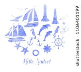 paper nautical background with... | Shutterstock .eps vector #1106401199