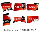summer sale set isolated vector ... | Shutterstock .eps vector #1106403227