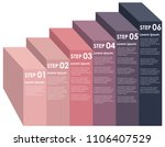 ascending information step...   Shutterstock .eps vector #1106407529