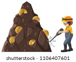 man mining crytocurrency from... | Shutterstock .eps vector #1106407601