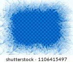 vector transparent blue frost... | Shutterstock .eps vector #1106415497