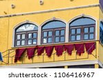 ugly facade of an old hotel   Shutterstock . vector #1106416967
