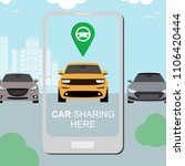 renting and carpooling banner... | Shutterstock .eps vector #1106420444