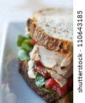 fresh turkey and vegetable... | Shutterstock . vector #110643185