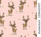 cute deer and star seamless... | Shutterstock .eps vector #1106431937