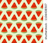 watermelon fruit pattern vector ... | Shutterstock .eps vector #1106438507