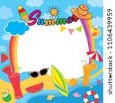 illustration vector of summer...   Shutterstock .eps vector #1106439959
