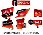 summer sale set isolated... | Shutterstock .eps vector #1106441087