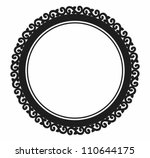 Ornamental Circle Frame.